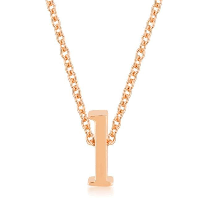 Pendants Rose Gold Finish Initial L Pendant angelucci-jewelry