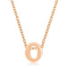 Pendants Rose Gold Finish Initial O Pendant angelucci-jewelry