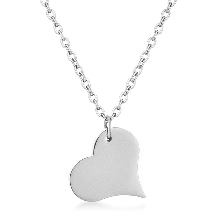 Pendants Silvertone Heart Pendant angelucci-jewelry