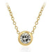 Pendants Solitaire Bezel Cubic Zirconia Golden Pendant angelucci-jewelry