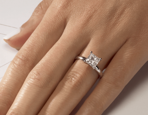Princess Cut Solitaire Diamond Engagement Ring (1.00 carat twd) angelucci-jewelry