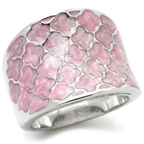 Ring 5 Fiore d'Roma Wide Pink Band angelucci-jewelry