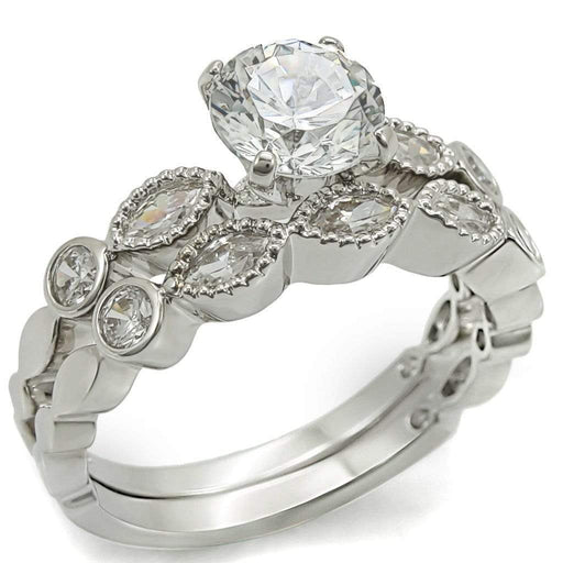 Ring 5 La Fleur de Paris CZ Cubic Zirconia Engagement Ring angelucci-jewelry