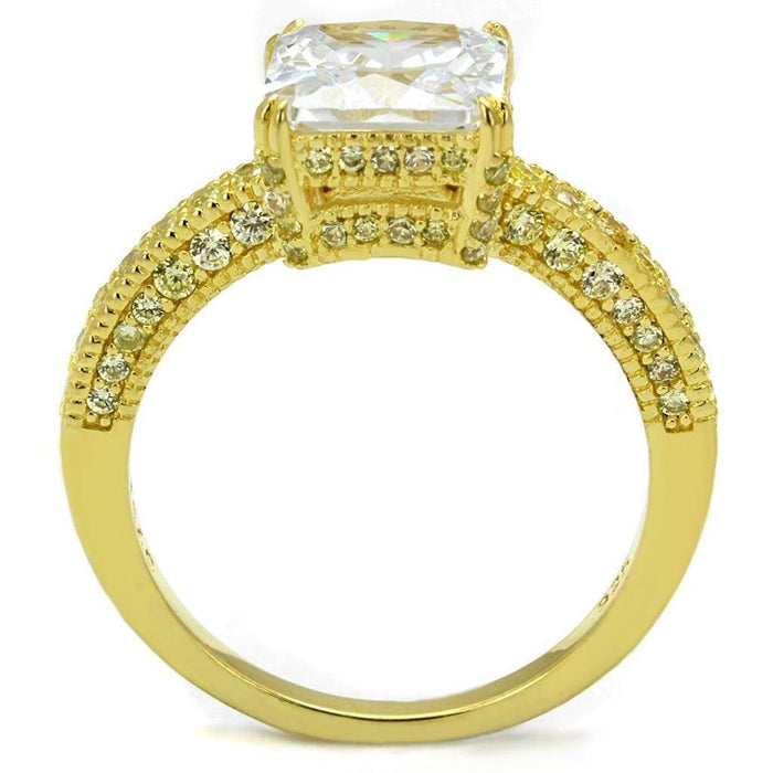 Ring TS539 Gold 925 Sterling Silver Ring with AAA Grade CZ in Clear angelucci-jewelry