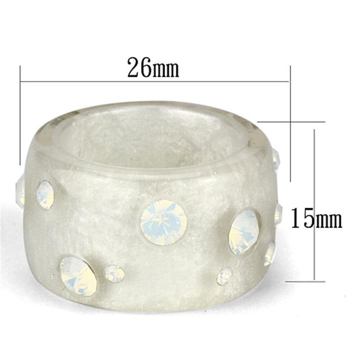 Ring VL078 N/A Resin Ring with Top Grade Crystal in Aurora Borealis (Rainbow Effect) angelucci-jewelry