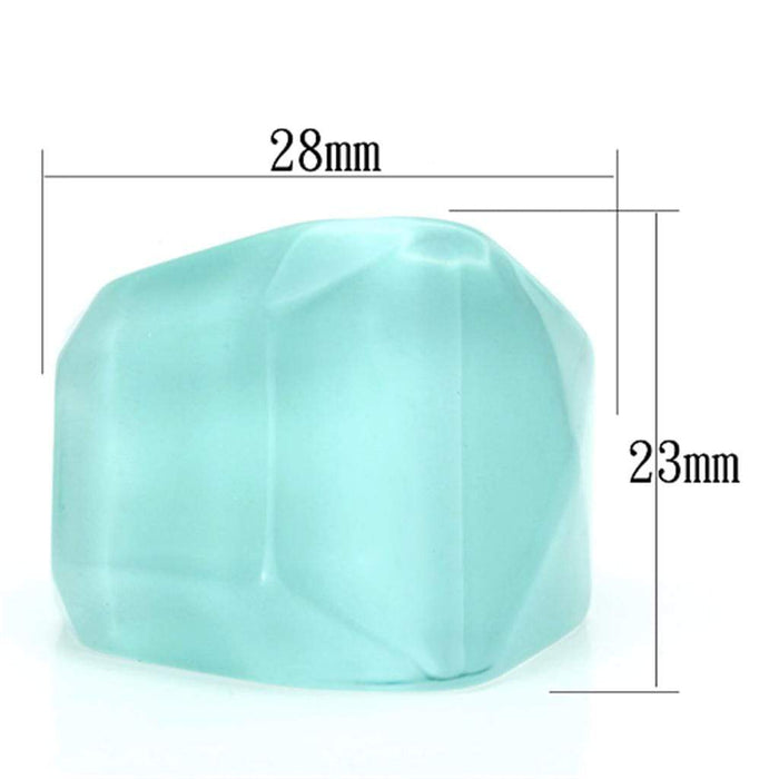 Ring VL095 N/A Resin Ring with No Stone in Sea Blue angelucci-jewelry