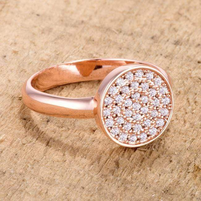 Rings 0.2ct CZ Rose Gold Pave Circle Ring angelucci-jewelry