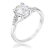 Rings 1.3 Ct Rhodium Plated CZ Cubic Zirconia Simple Engagement Ring angelucci-jewelry