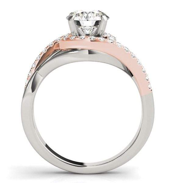 Rings 14k White And Rose Gold Bypass Diamond Engagement Ring (1 1/4 cttw) angelucci-jewelry