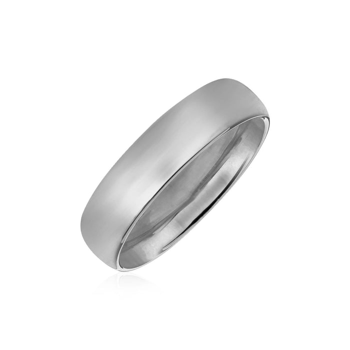 Rings 14k White Gold Comfort Fit 6mm Wedding Band angelucci-jewelry
