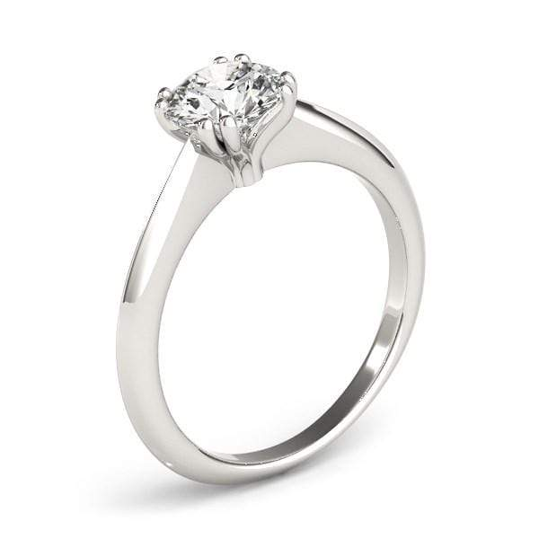 Rings 14k White Gold Double Prong Set Solitaire Diamond Engagement Ring (1 cttw) angelucci-jewelry