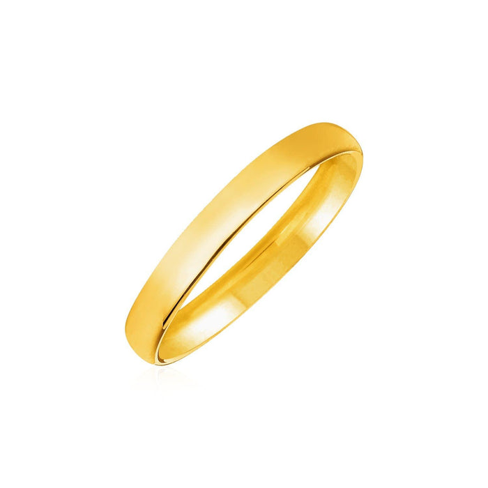 Rings 14k Yellow Gold Comfort Fit 3mm Wedding Band angelucci-jewelry