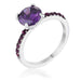 Rings 2.3CT Amethyst CZ Rhodium Ring angelucci-jewelry