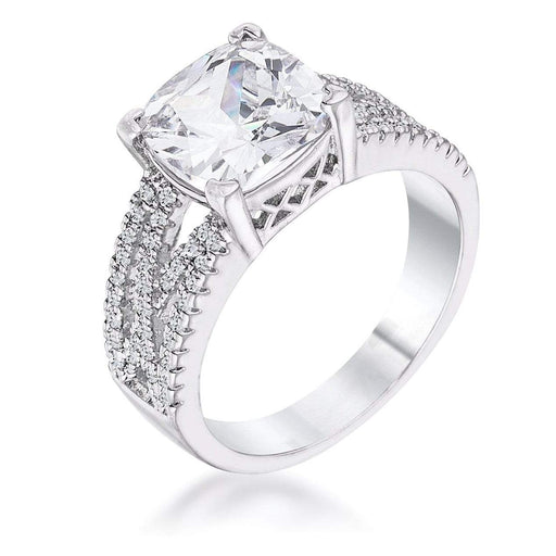 Rings 3Ct Elegant Criss-Cross Clear CZ Cubic Zirconia Engagement Ring angelucci-jewelry