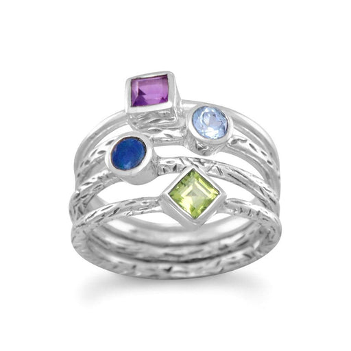Rings 4 Band Multistone Ring angelucci-jewelry