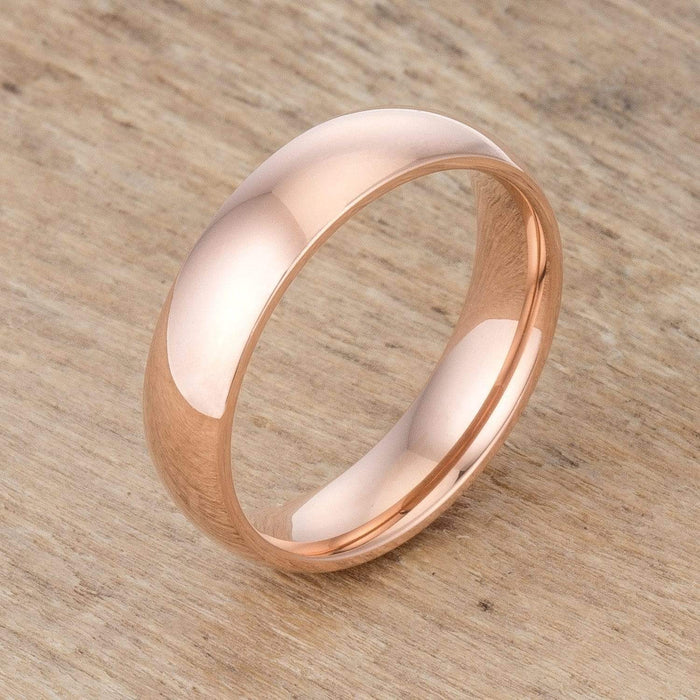 Rings 5 mm IPG Rose Gold Stainless Steel Band angelucci-jewelry