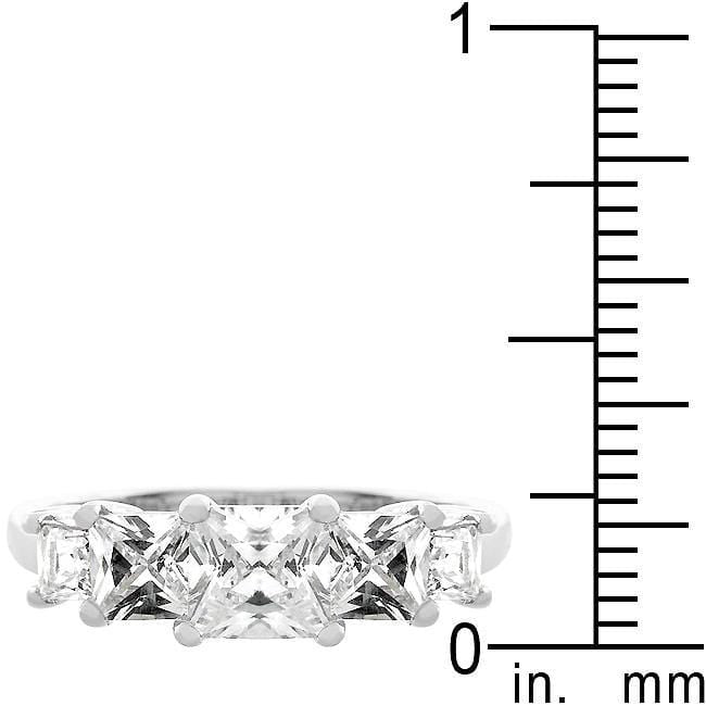 Rings 5-Stone Anniversary Ring in Rhodium Plated angelucci-jewelry