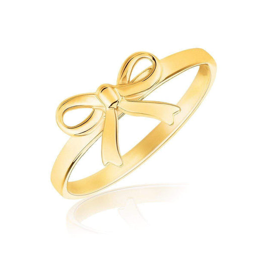 Rings 7 14k Yellow Gold Bow Ring angelucci-jewelry