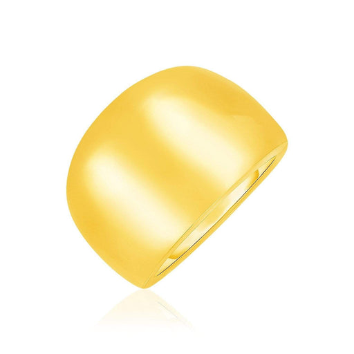 Rings 7 / Yellow gold 14k Yellow Gold Large Polished Dome Cigar Band angelucci-jewelry