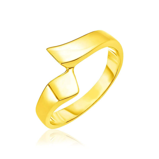 Rings 7 / Yellow gold 14k Yellow Gold Polished Crossover Style Ring angelucci-jewelry