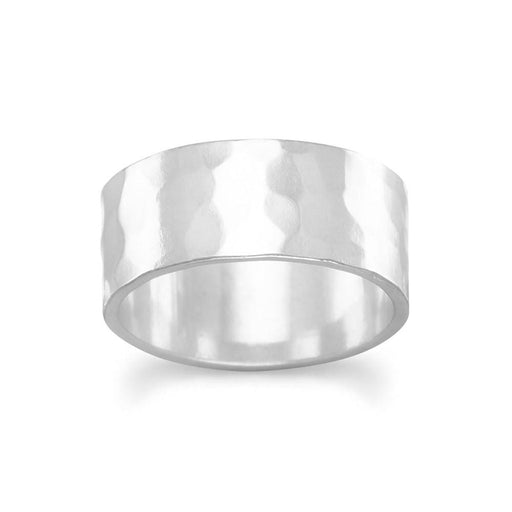 Rings 8mm Hammered Band Ring angelucci-jewelry