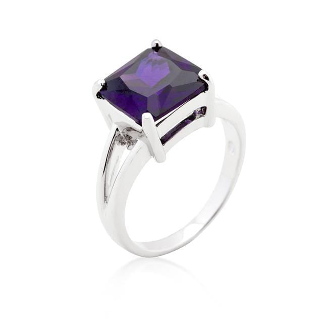 Rings Amethyst Gypsy Ring angelucci-jewelry