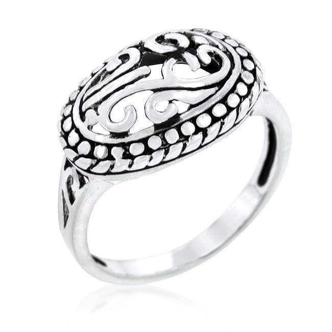 Rings Antique Filigree Crest Ring angelucci-jewelry