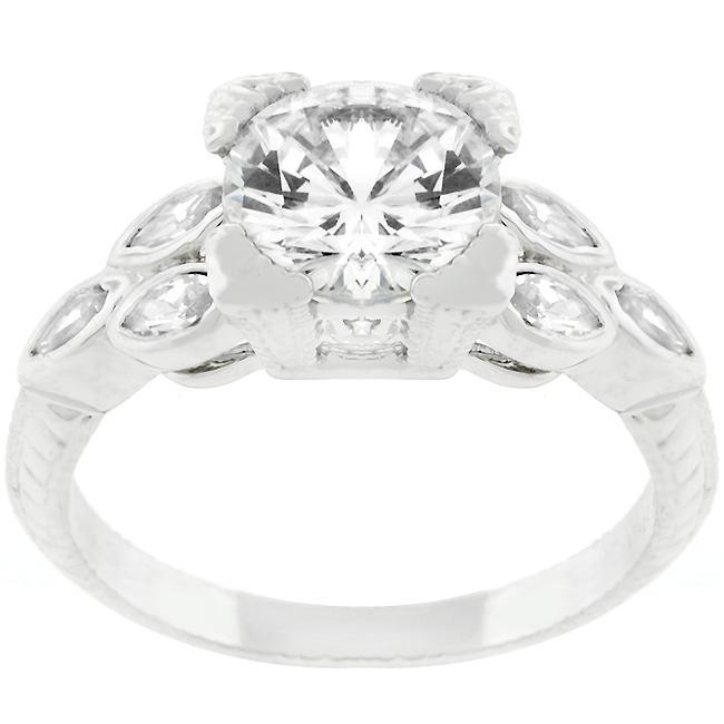 Rings Bella CZ Cubic Zirconia Engagement Ring angelucci-jewelry