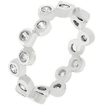 Rings Bezel Set Clear CZ Eternity Band angelucci-jewelry
