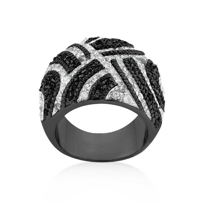 Rings Black And White Cocktail Ring angelucci-jewelry