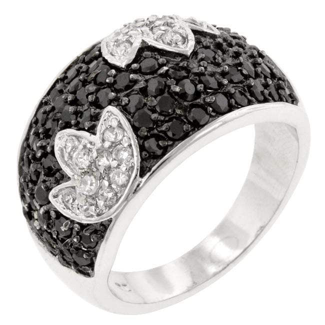 Rings Black and White Tulip Ring angelucci-jewelry