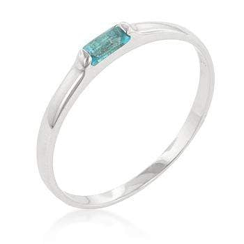 Rings Blue Topaz Petite Solitaire Ring angelucci-jewelry