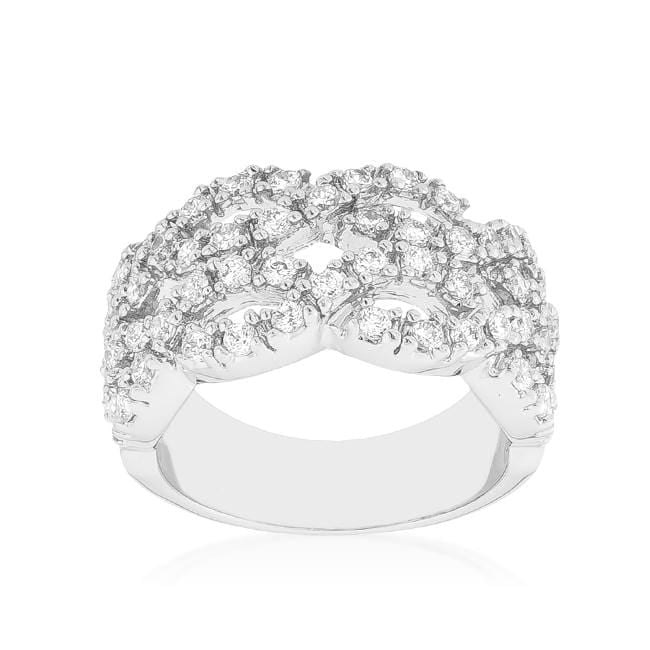 Rings Braided CZ Cocktail Ring angelucci-jewelry