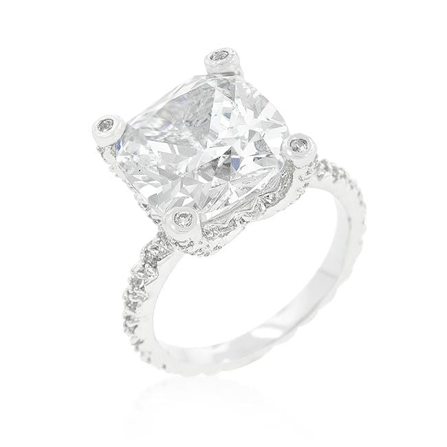 Rings Brilliant CZ Cubic Zirconia Engagement Ring angelucci-jewelry