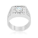 Rings Brilliant Mens Cubic Zirconia Ring angelucci-jewelry