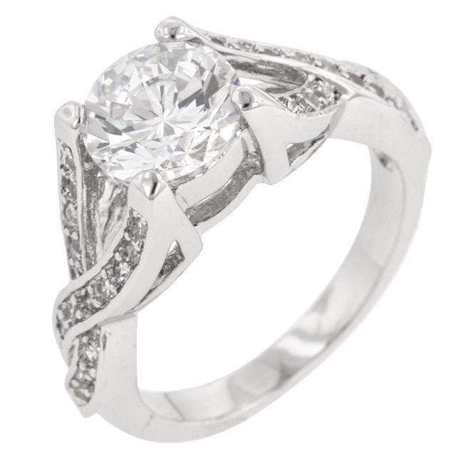 Rings Brilliant Twist Engagement Ring angelucci-jewelry