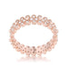 Rings Clara 1ct CZ Rose Gold Textured Bezel Set Eternity Ring angelucci-jewelry