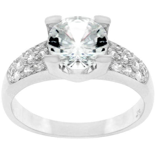 Rings Classic Clear CZ Cubic Zirconia Engagement Ring angelucci-jewelry