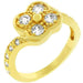 Rings Cubic Zirconia Clover Ring angelucci-jewelry