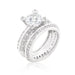 Rings Cubic Zirconia Round Cut Pave Ring Set angelucci-jewelry