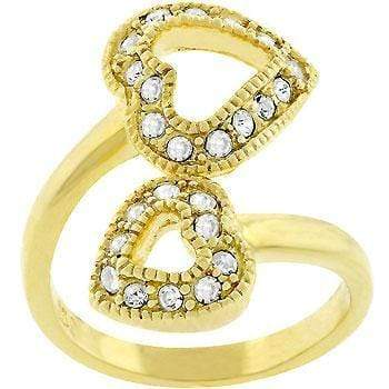 Rings Dual Pave Hearts Ring angelucci-jewelry