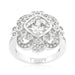 Rings Elegant Clear Cubic Zirconia Crest Ring angelucci-jewelry