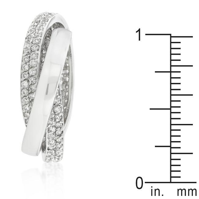 Rings Eternity Band Triplet with Clear Cubic Zirconia angelucci-jewelry