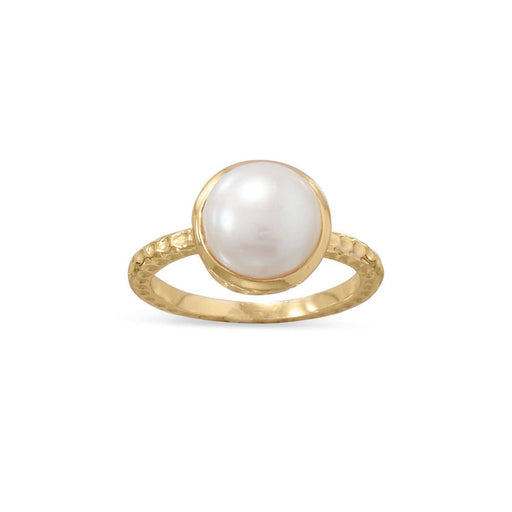 Rings Gold Vermeil Cultured Freshwater Pearl Ring angelucci-jewelry