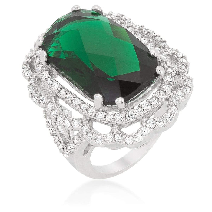 Rings Green Cocktail Crest Ring angelucci-jewelry