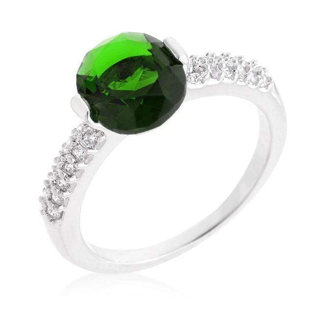 Rings Green Oval Cubic Zirconia Engagement Ring angelucci-jewelry