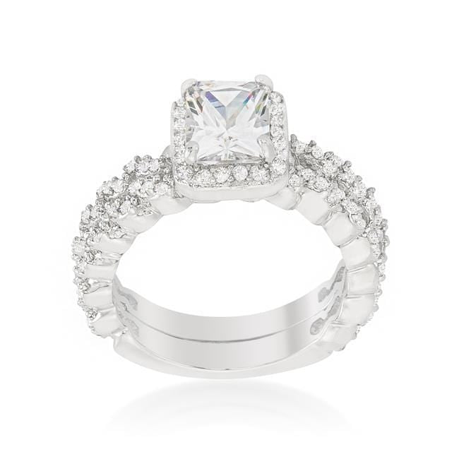 Rings Halo Radiant Wedding Set angelucci-jewelry