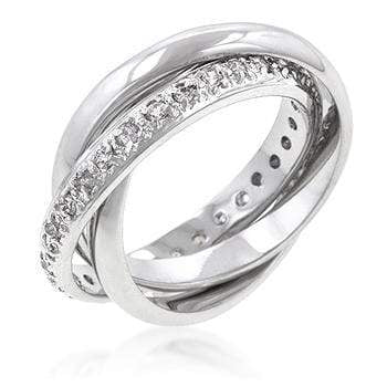 Rings Intertwined Eternity Bands angelucci-jewelry