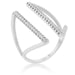 Rings Jena 0.2ct CZ Rhodium Delicate Parallel Ring angelucci-jewelry