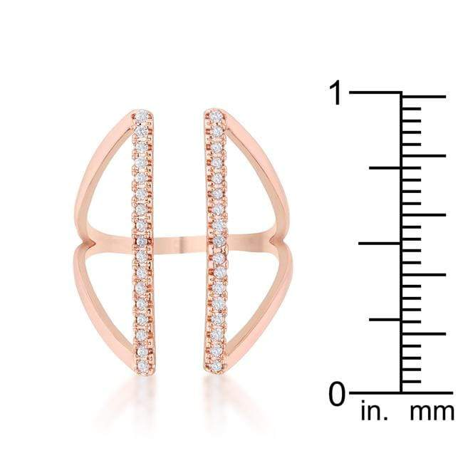 Rings Jena 0.2ct CZ Rose Gold Delicate Parallel Ring angelucci-jewelry
